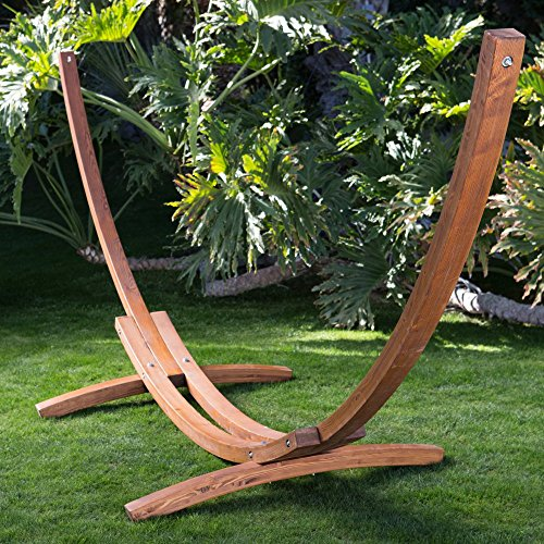 Algoma 15ft Russian Pine Wood Arc Hammock Stand