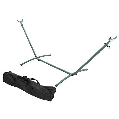 sunnydaze 9 ft brazilian hammock stand   green sunnydaze 9 ft brazilian hammock stand   green   400 lbs weight      rh   myhammockstand