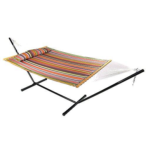 sunnydaze 12 ft steel stand with canyon sunset double spreader bar hammock  bo set sunnydaze 12 ft steel stand with canyon sunset double spreader bar      rh   myhammockstand