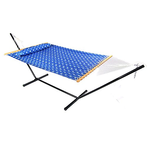 sunnydaze 12 ft steel stand with mountain view double spreader bar hammock  bo set sunnydaze 12 ft steel stand with mountain view double spreader bar      rh   myhammockstand