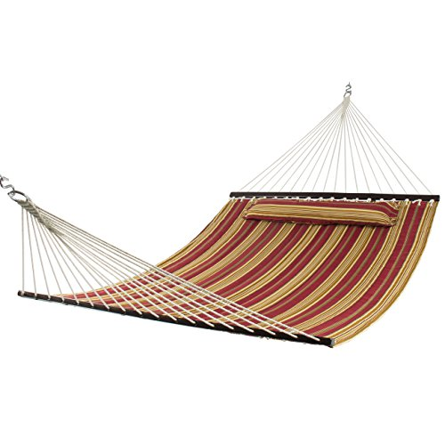 best choice products double size quilted hammock   450 lb weight capacity   red stripe best choice products double size quilted hammock   450 lb weight      rh   myhammockstand