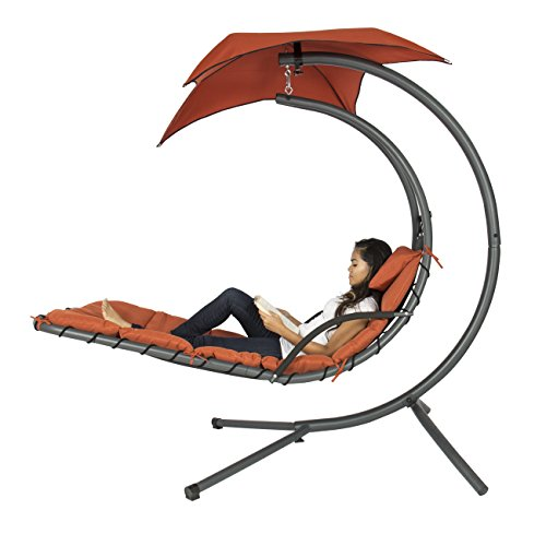 Best Choice Products Helicopter Swing Hammock Chair   Orange