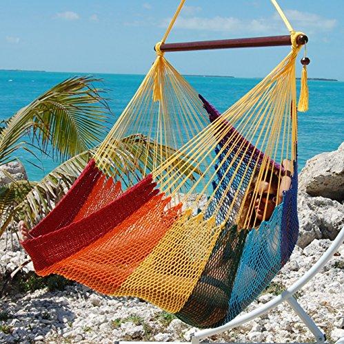 polyester mocha inch weight hanging hammock hammocks capacity chair caribbean product large lbs