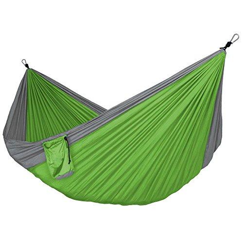 apriller double portable camping hammock   600 lb weight capacity   green apriller double portable camping hammock   65   width   600 lb      rh   myhammockstand