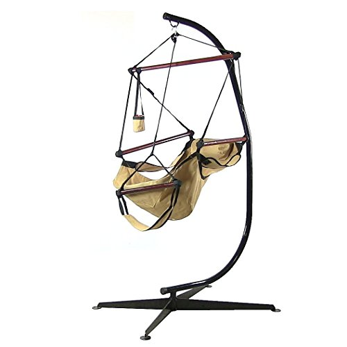 sunnydaze 24 inch wide hanging hammock chair and 84   hammock c stand  bo   250 sunnydaze 24 inch wide hanging hammock chair and 84   hammock c      rh   myhammockstand