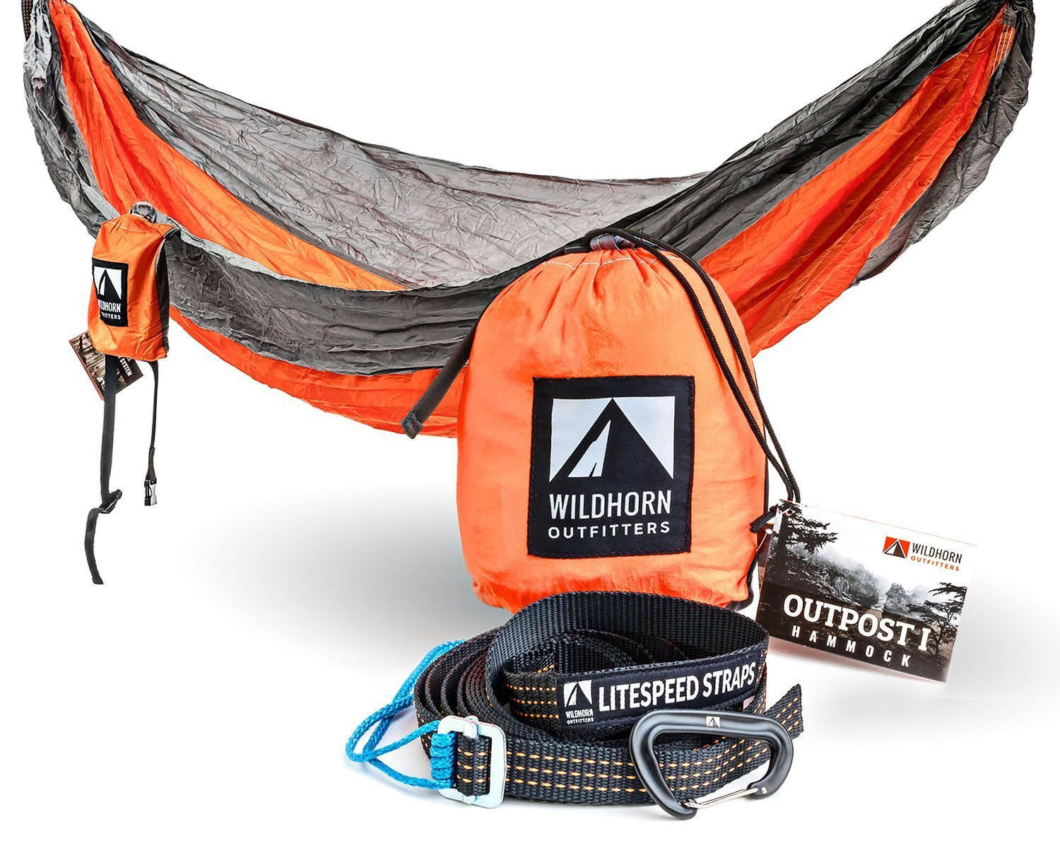 Wildhorn Outpost Portable Camping Hammock U2013 Single Or Double U2013 11 Feet Long  U2013 400 Lb Weight Capacity U2013 Various Colors Available