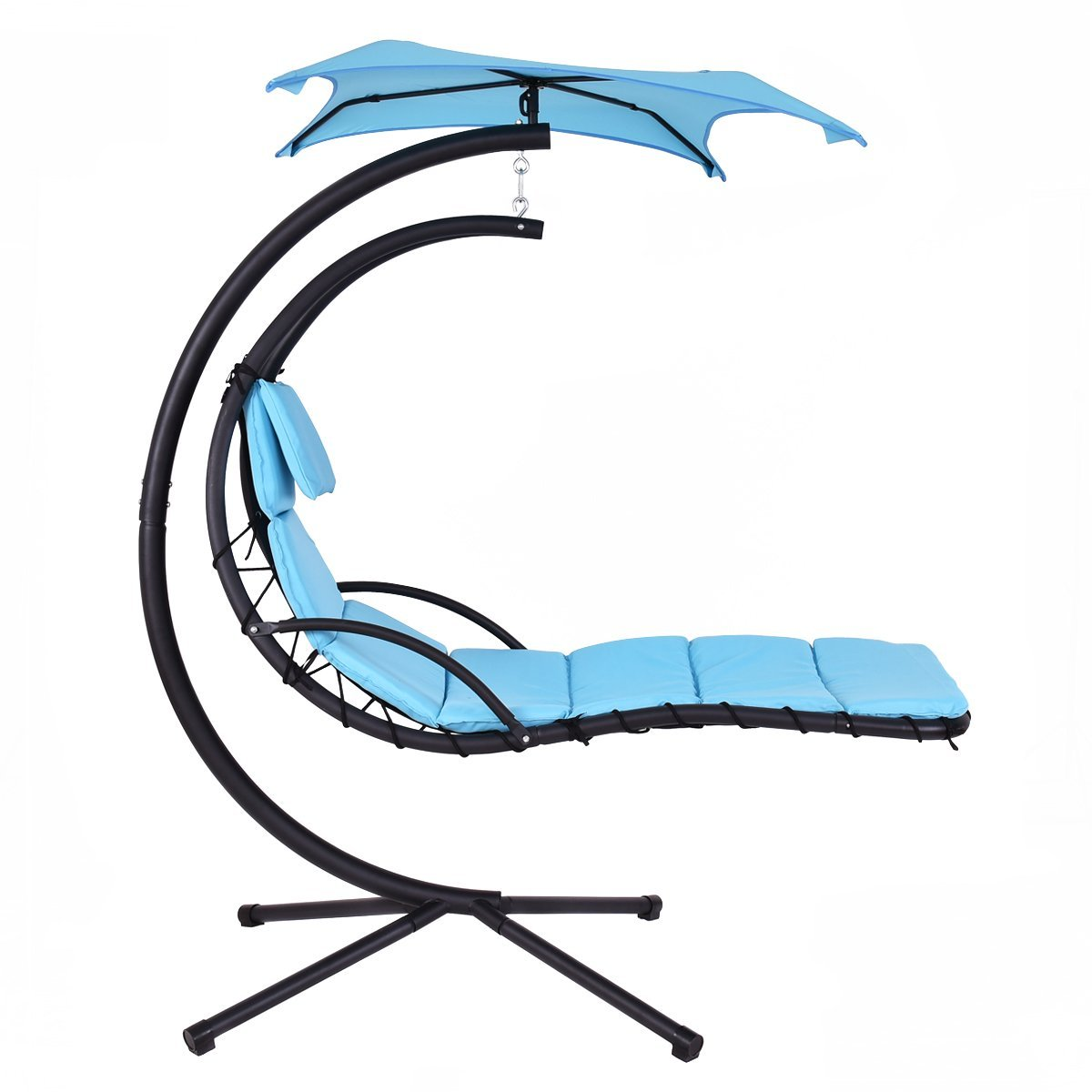 Giantex Hanging Lounge Helicopter Hammock Chair Blue
