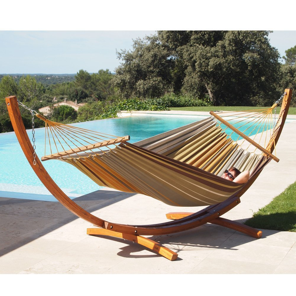 LazyDaze Hammocks 12 Feet Wood Arc Hammock Stand And Hammock