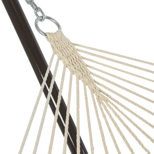 Best-Choice-Products-Cotton-Rope-Hammock-12-Feet-Steel-Stand-Combo-w-Stripe-Pad-and-Pillow-0-2