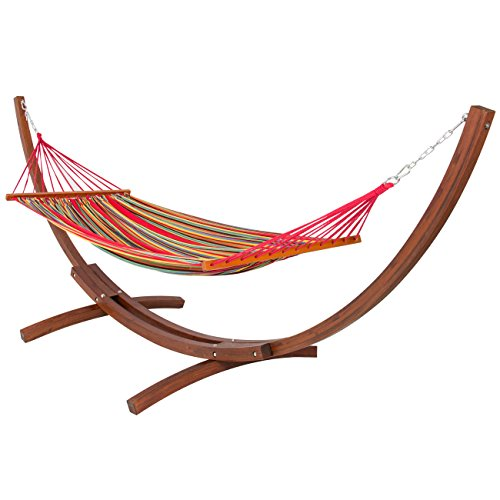 Best Choice Products Wooden Hammock Stand & Hammock