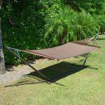 Caribbean Hammocks 15 foot hammock stand with brown hammock