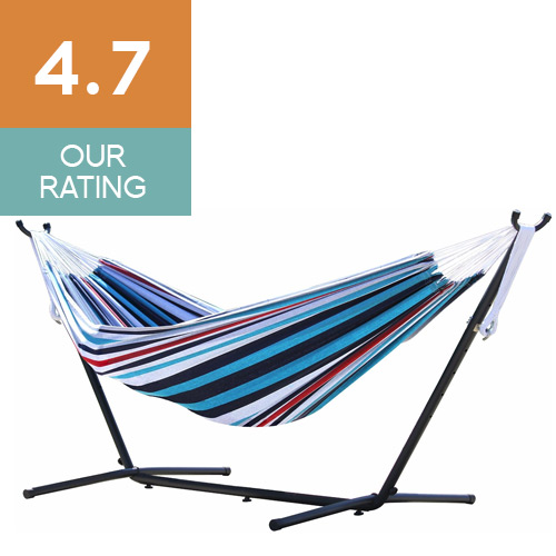 Vivere Double Hammock & 9' Steel Stand
