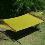 Caribbean Hammocks Jumbo Hammock and 15 ft Tribeam Stand - Olive Green