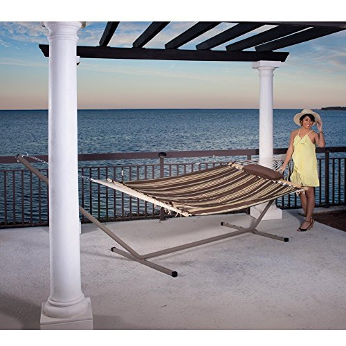 Prime Garden 15 ft Steel Hammock Stand with 2 Person Hammock