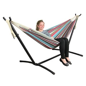Sunnydaze-Cool-Breeze-Cotton-Double-Brazilian-Hammock-Stand-Combo-60-Inch-Wide-x-132-Inch-Long-0-3