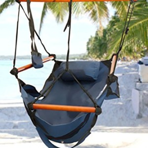 Best Choice Products Hammock Hanging Chair Air Deluxe - Blue - 250 lbs Weight Capacity