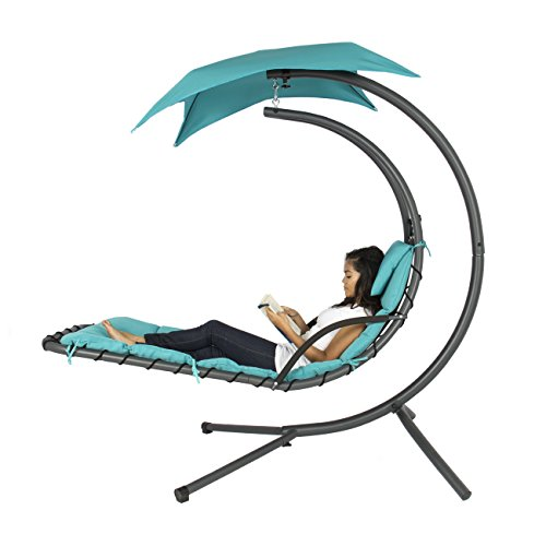 Best Choice Products Helicopter Swing Hammock Chair - Teal Blue