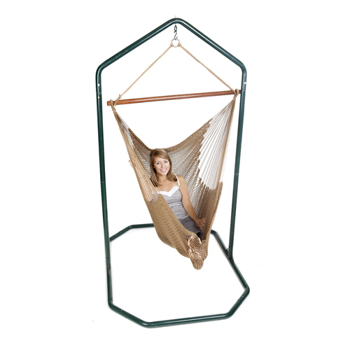 "Green Mountain Hammocks Green Hanging Chair Stand - 83"" Height - 400 lb Weight Capacity"