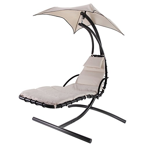 Palm Springs Hanging Swing Helicopter Chair - Cream