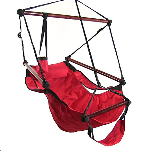 Sunnydaze 24 Inch Wide Hanging Hammock Chair Red 250 Lbs Weight Capacity My