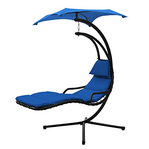 XtremepowerUS Floating Swing Hammock Lounger - Navy Blue