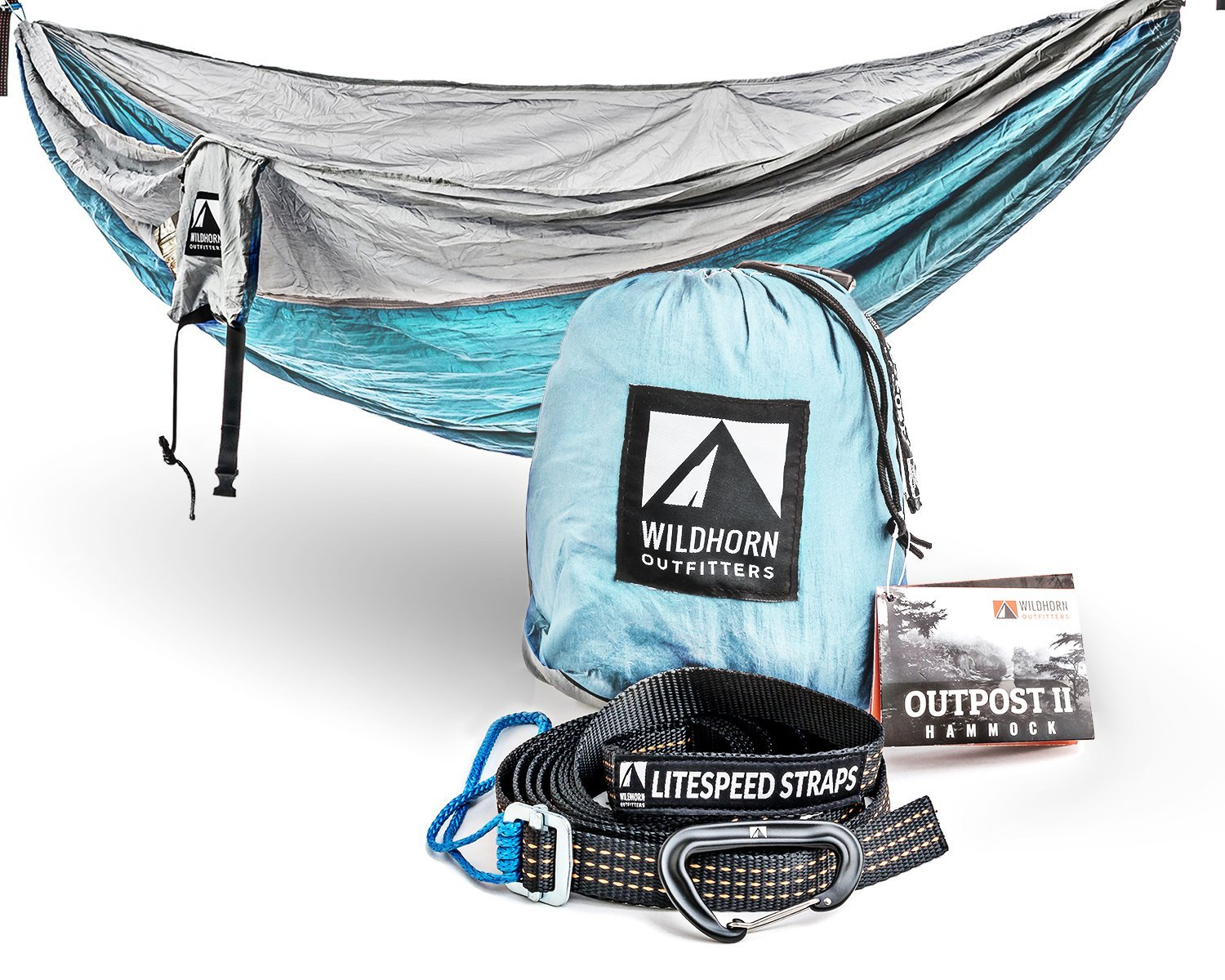 Wildhorn Outpost Portable Camping Hammock - Single or Double - 11 Feet Long - 400 lb Weight Capacity - Various Colors Available
