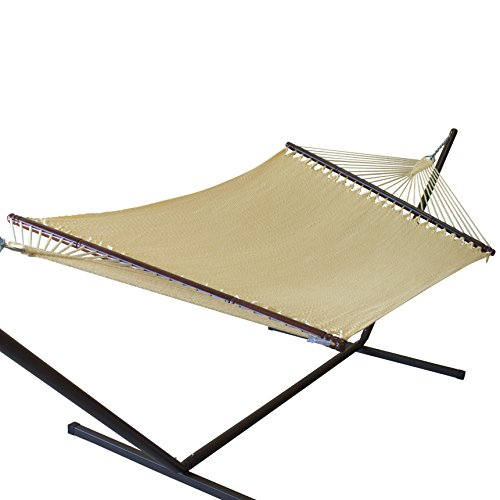 "Caribbean Hammocks 55"" Wide Jumbo Caribbean Hammock - Cream - 600 lb Weight Capacity"