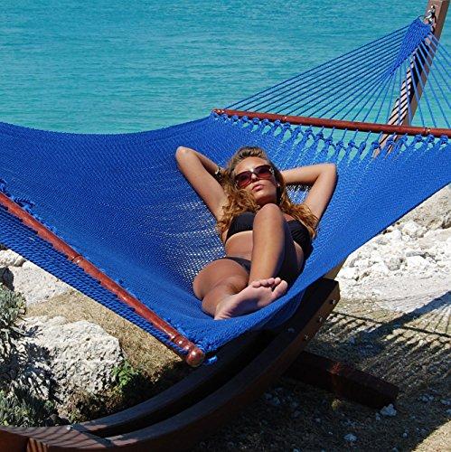 Caribbean Hammocks Jumbo Caribbean Hammock - Dark Blue - 600 lb Weight Capacity