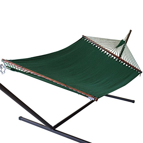 "Caribbean Hammocks 55"" Wide Jumbo Caribbean Hammock - Green - 600 lb Weight Capacity"