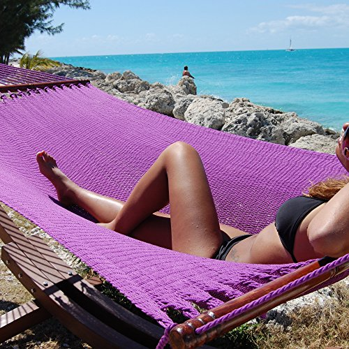 "Caribbean Hammocks 55"" Wide Jumbo Caribbean Hammock - Purple - 600 lb Weight Capacity"