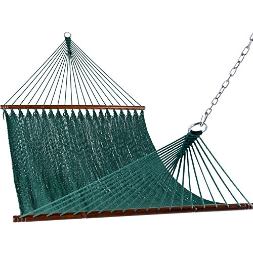"Sundale Outdoor 55"" Wide Double Caribbean Hammock - Dark Green - 450 lb Weight Capacity"