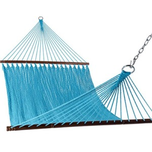 "Sundale Outdoor 55"" Wide Double Caribbean Hammock - Sky Blue - 450 lb Weight Capacity"