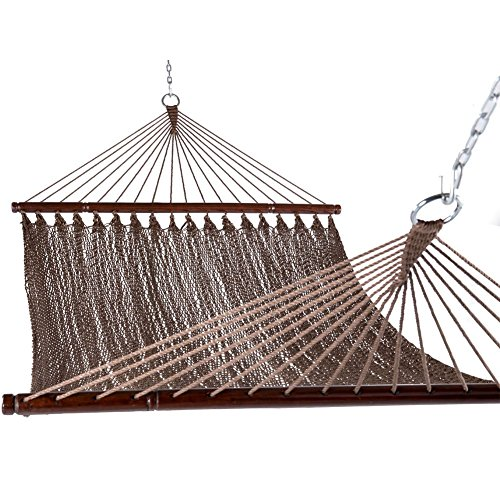 """Sundale Outdoor 55"""" Wide Double Caribbean Hammock - Brown - 450 lb Weight Capacity"""