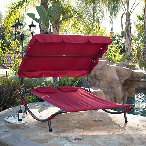 Bellezza Double Hammock Bed - Burgundy - 440 lb Weight Capacity