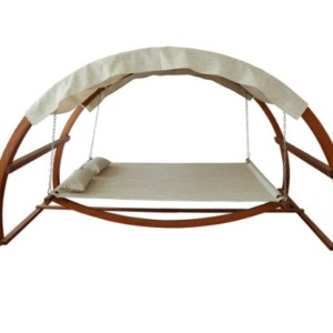 Leisure Season SBWC402 Swing Bed with Canopy - 500 lbs Weight Capacity