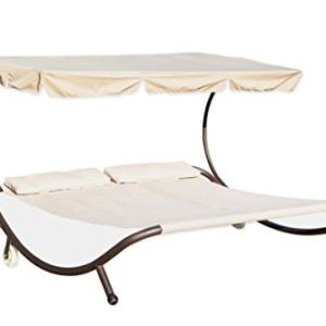 Trademark Innovations Double Hammock Bed with Canopy - 400 lb Weight Capacity