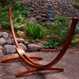 Algoma 12 ft Wood Arc Hammock Stand