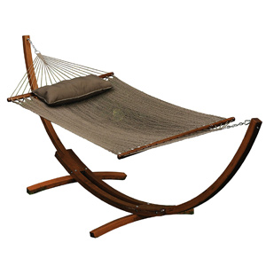 Algoma 12 ft Wood Hammock Stand and Caribbean Hammock