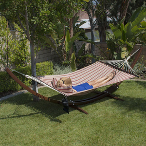 Bellezze 13 ft Wood Hammock Stand and Hammock