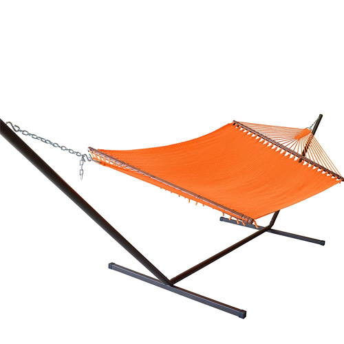Caribbean Hammocks 15 FT Hammock Stand with 2 Person Jumbo Hammock