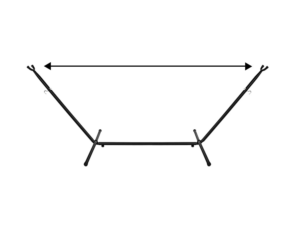 hammock stand length illustration